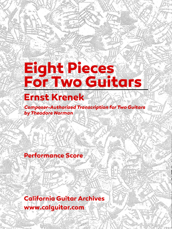Ernst Krenek: Eight Pieces for Two Guitars