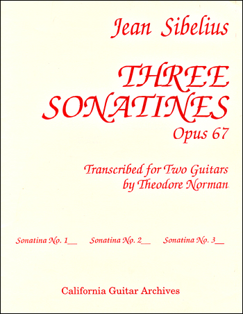Jean Sibelius: Sonatine 3 Op. 67 for Two Guitars