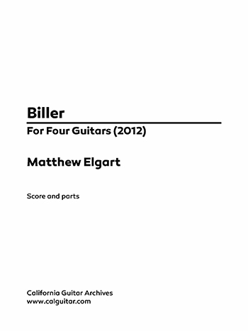 Matthew Elgart: Biller