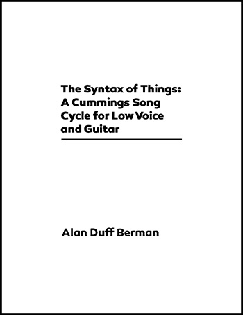 Alan Duff Berman: The Syntax of Things