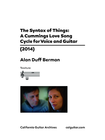 Alan Duff Berman: The Syntax of Things